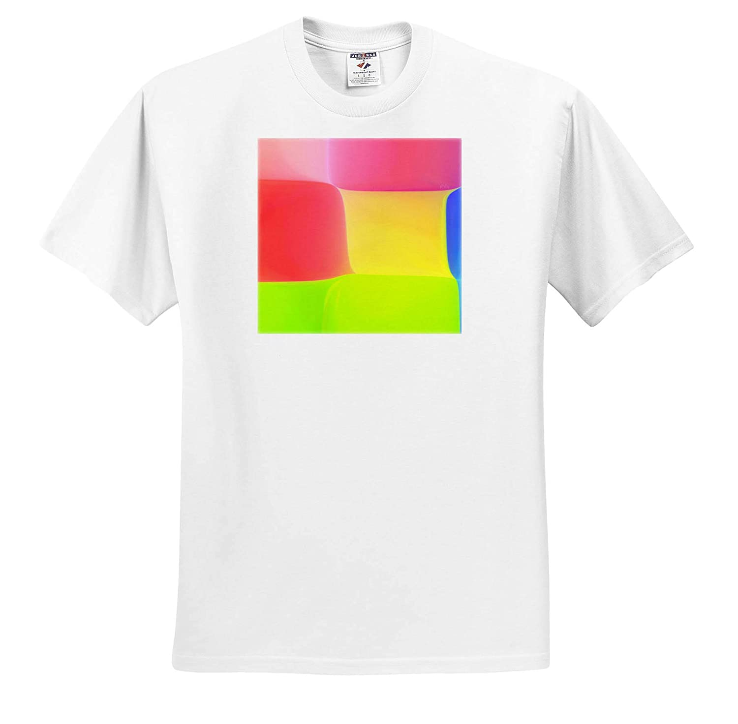 T-Shirts Color Chessboard Yellow and Green Squares Medium red Generative Artworks 3dRose RVig