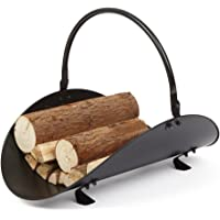 Amagabeli Indoor Firewood Rack Log Holder Basket For Fireplace