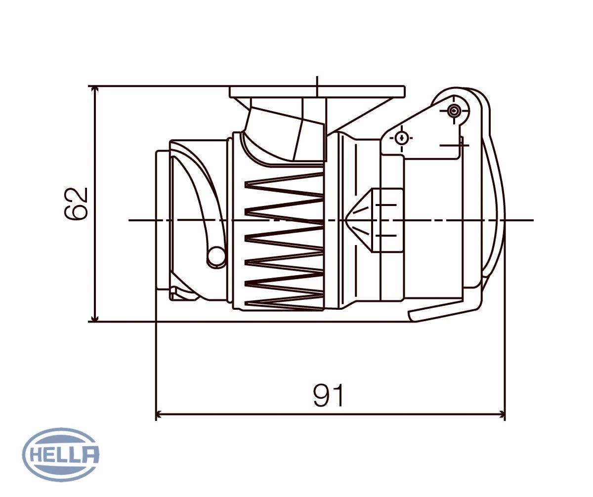 HELLA 8JA 005 952-001 Cable adaptador tomacorriente remolque
