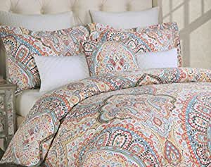 Amazon Com Nicole Miller Buta Duvet Cover Set 3pc Large