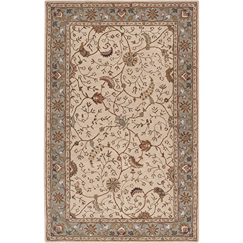 Surya Caesar CAE-1088 Classic Hand Tufted 100% Wool Dark Olive Green 9' x 12' Traditional Area Rug (Sienna Burnt Rug Wool)