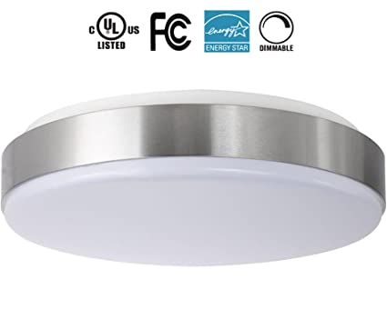 22W 15 Inch 2700K Warmlight White Dimmable LED Ceiling Lights, 200W  Incandescent (50