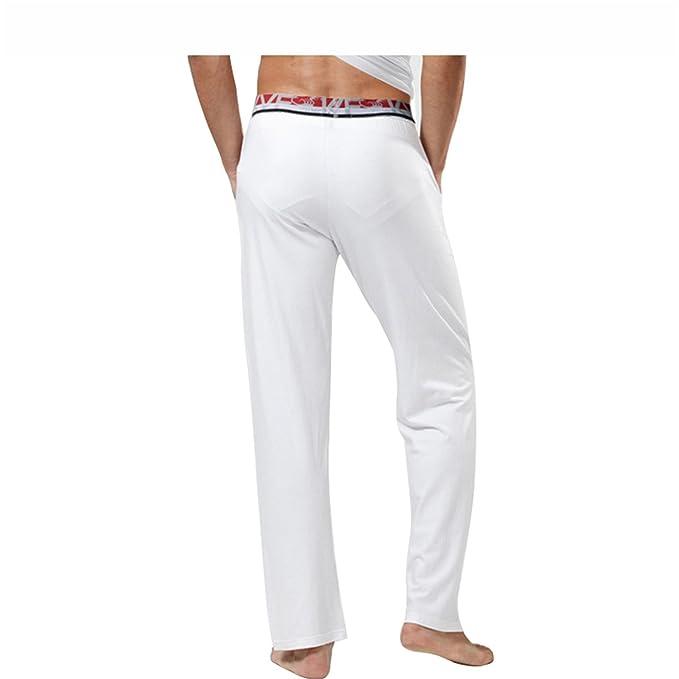 Jeff Tribble Plus Size Mens Sleep Bottoms Pajama Sleepwear Lounge Pants Sheer Trousers at Amazon Mens Clothing store: