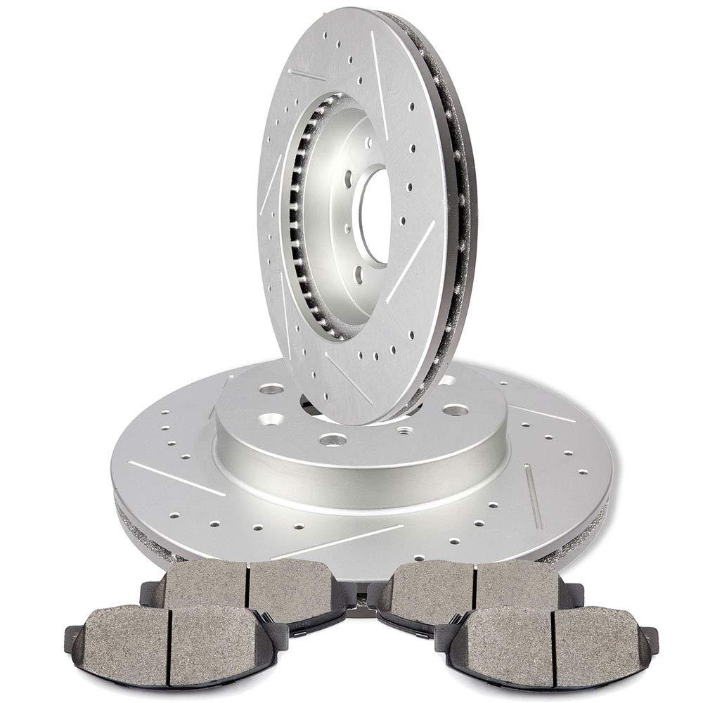 cciyu Front Premium Brake Rotors Ceramic Brake Pads fit for 1996 1997 1998 1999 2000 2001 2002 2003 2004 2005 Honda Civic 803912-5210-0948337471