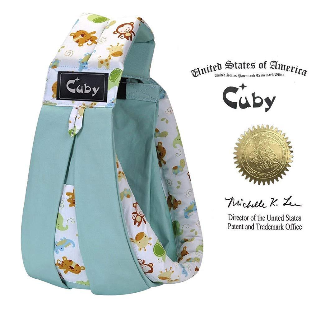 Cuby Porte-bébé Hamac De transport et allaitement Pour nouveau-nés (Blue animals) Cuby CBUK0100ZP