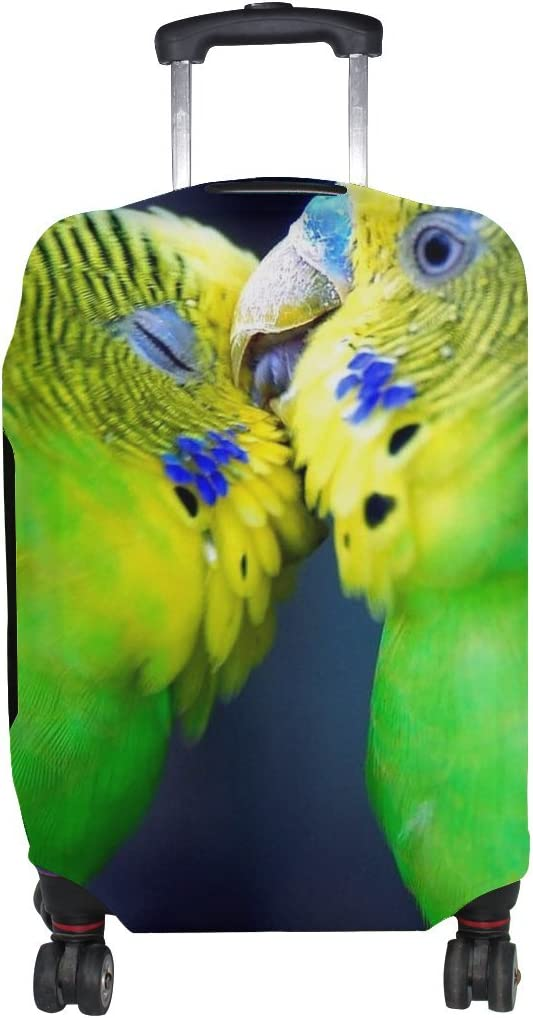 Animal Brid Parrot Fluffy Small Pattern Print Travel Luggage Protector Baggage Suitcase Cover Fits 18-21 Inch Luggage