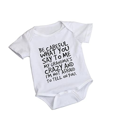 3bfe4e7442 Allywit Newborn Infant Baby Kids Girl Boy Print Romper Jumpsuit Outfits  Sunsuit Clothes (0/