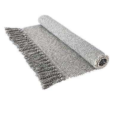 USTIDE Gray/White Hand Woven Rug 23.6 x35.4  Braided Rug 100% Cotton Rug with Tassels Kitchen/Bathroom/Outdoor Doormat Machine Washable Rug