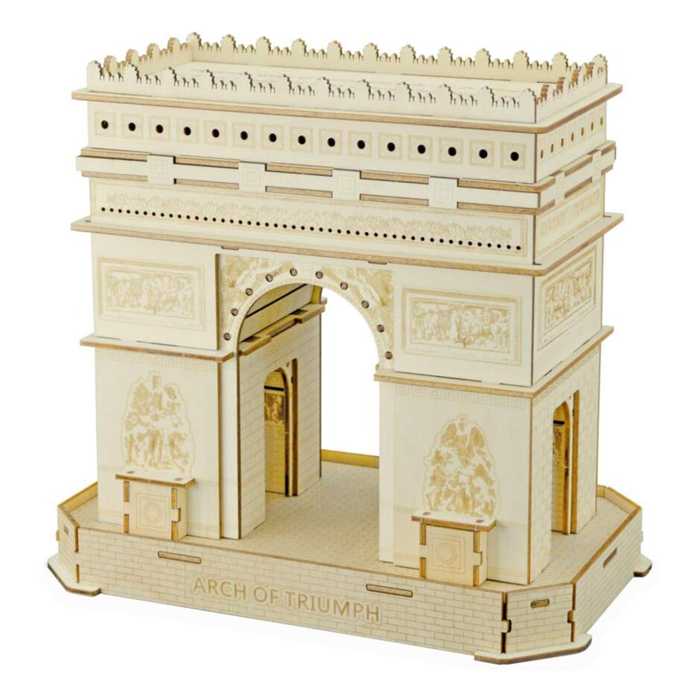 3D Holzpuzzle, Triumphbogen-Modell, DIY montiert Woodencraft Spielzeug Set, Kinder Puzzle Casual Holz Lernspielzeug B07M9FSBVN 3D-Puzzles Hohe Qualität und Wirtschaftlichkeit   | Vielfalt