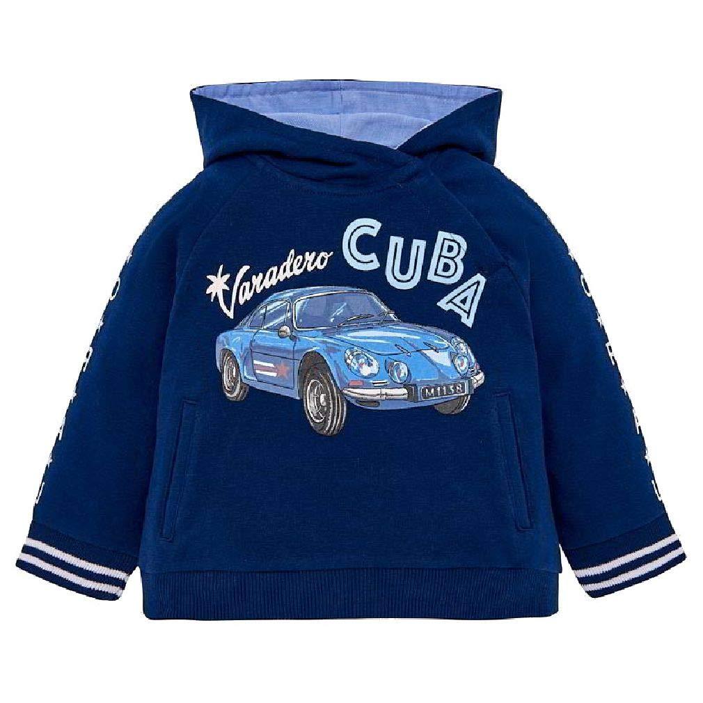 Mayoral Baby Jungen Hoodie mit Kapuze Oldtimer Cuba in Steel Blue