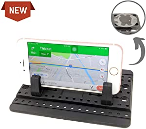 Anti-Slip Car Phone Dashboard Mat – Gatsjy Hands-Free 5 Gel Point Sticky Silicone Cell Phone Holder Pad for Car/Home/Office Compatible with iPhone 11 PRO MAX XR XS MAX 8 7,Galaxy S20+ S10+ etc