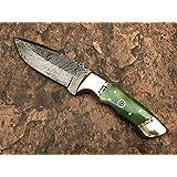 """Ash nf2gb Damascus steel custom handmade Skinner knife 8"""""""