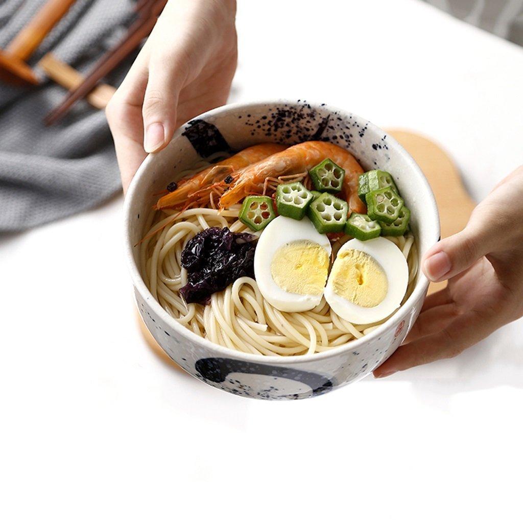 Sch/üssel Japanischen Stil Handgemalte Katze Keramik Obstsalat Sch/üssel Kreative Gro/ße Kapazit/ät Ramen Suppensch/üssel Gro/ße Kapazit/ät Geschirr