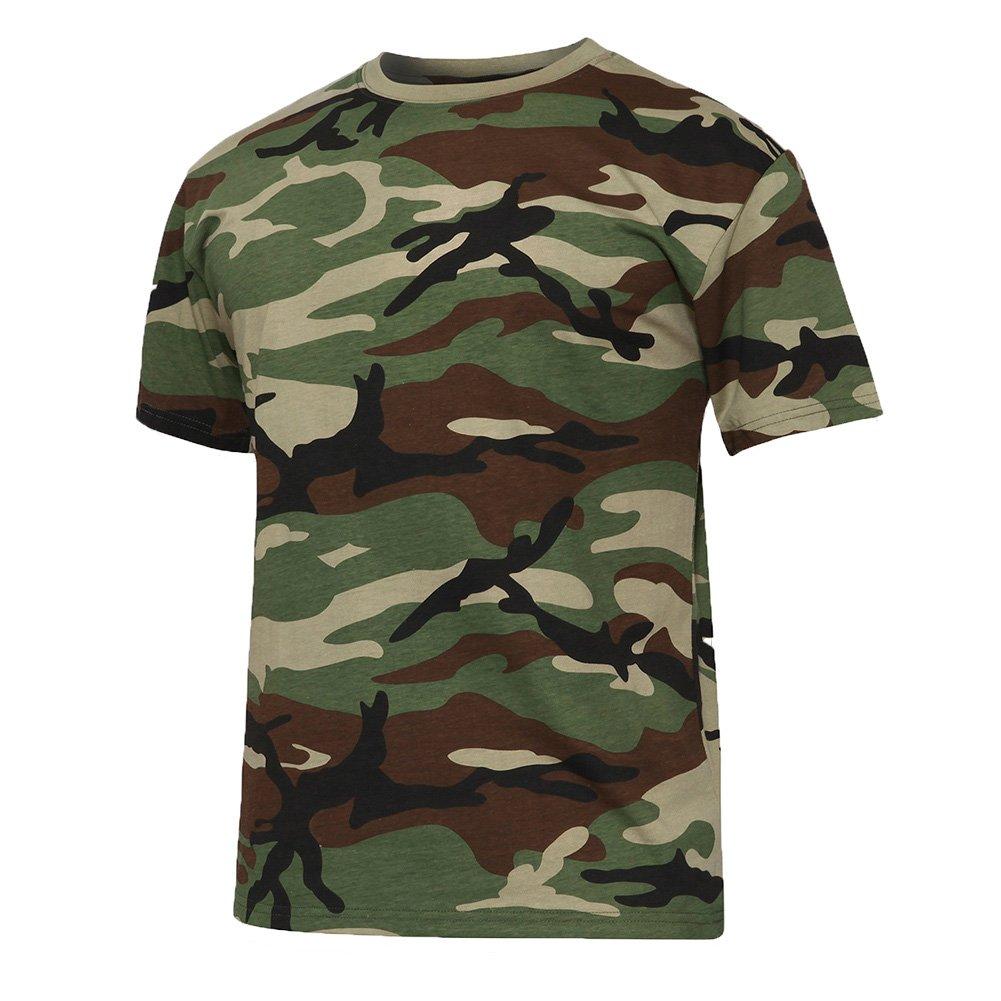 tacvasenメンズミリタリー迷彩スリムフィット半袖TシャツコットンT B0739QZX3C Medium|ジャングル ジャングル Medium