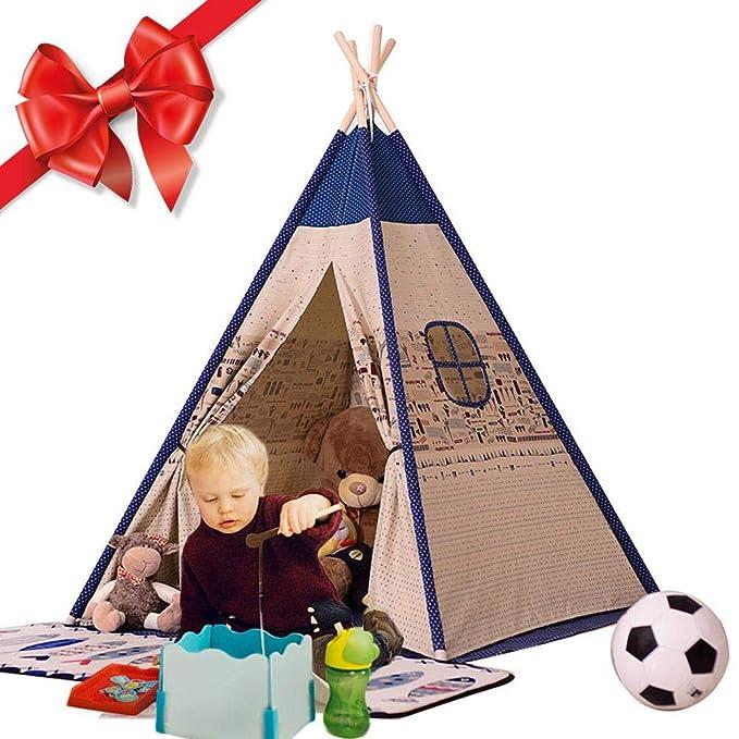 Y Tienda de Campaña Infantil,Tienda para Niños, Casa de Juegos para niños Muebles de Sala de Juegos para niños, Cavans Tipi Niños Lienzo de Algodón Tiendas ...