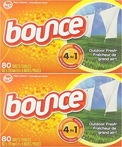 Bounce Fabric Softener Sheets, Outdoor Fresh Scent, 80 Sheets (Pack of (Procter And Gamble Bounce Fabric)