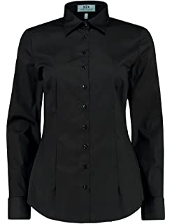 8fb3f7933b589 HAWES   CURTIS Womens Fitted Cotton Stretch Pointed Collar Double Cuff Shirt