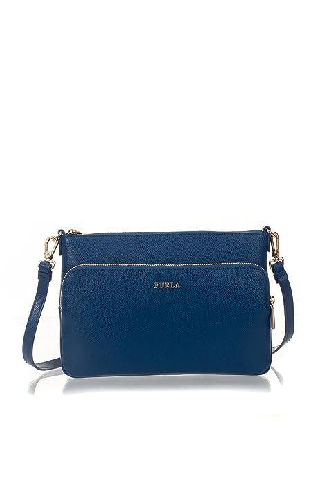 Furla - Cartera de mano de Cuero para mujer Azul turquesa Taglia unica: Amazon.es: Zapatos y complementos