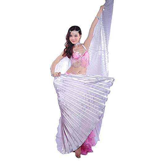 Buy Imported Shining Belly Dance Costume Isis Wings Silver Online At Low Prices In India Amazon In