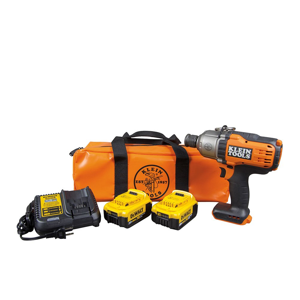 Klein Tools BAT20-7161 7/16'' Battery-Operated Impact Wrench Kit