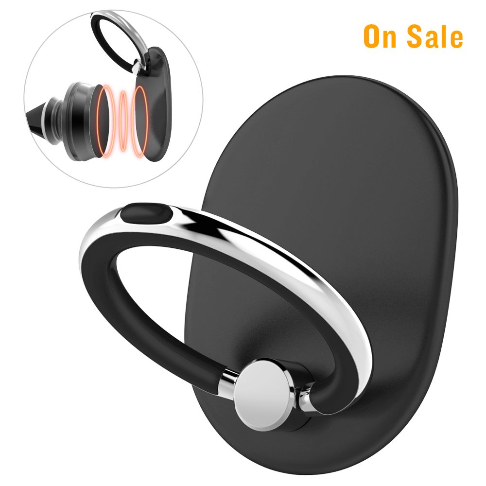 Cellphone Ring Stand Holder Adjustable Ring Bracket Kickstand Phone Hand Grip Smartphones Tablets Mobilephone Contain Magnetic Metal for Car Mount