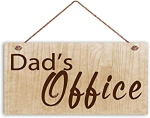 MAIYUAN Dad's Office Sign, Gift for Dad, Wood Sign, 12x6 Sign, Shop Sign for Father, Gift for Him(XU2448)