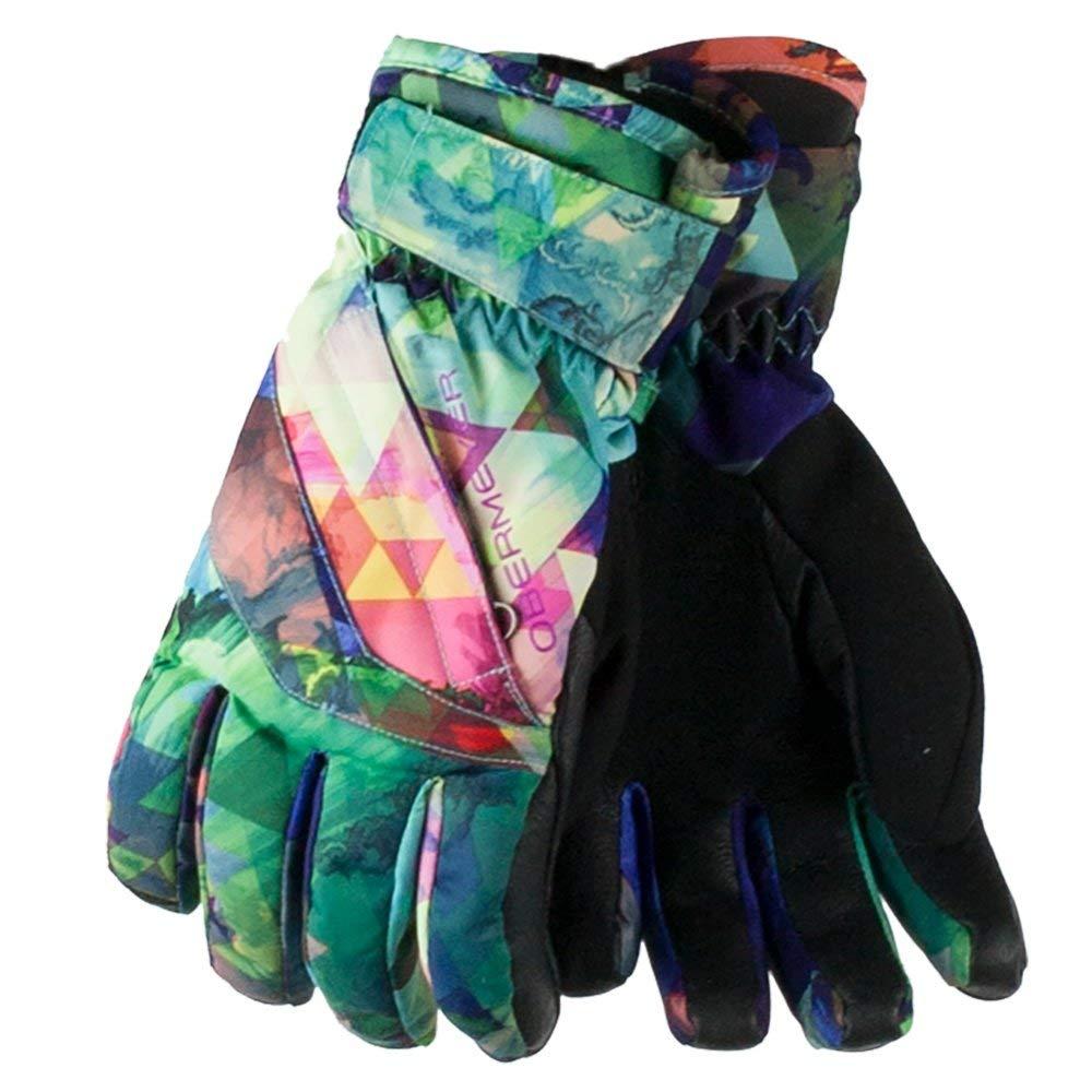 Obermeyer Kids Unisex Cornice Gloves (Big Kids) Fractal Floral MD
