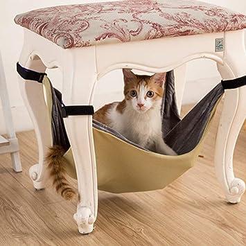 Xinjiener Hamaca Cat para Gatos, Cama Colgante Multifuncional Doble para Gatos, Manta Impermeable para Cama para Gatos, Nido para Mascotas (L, ...