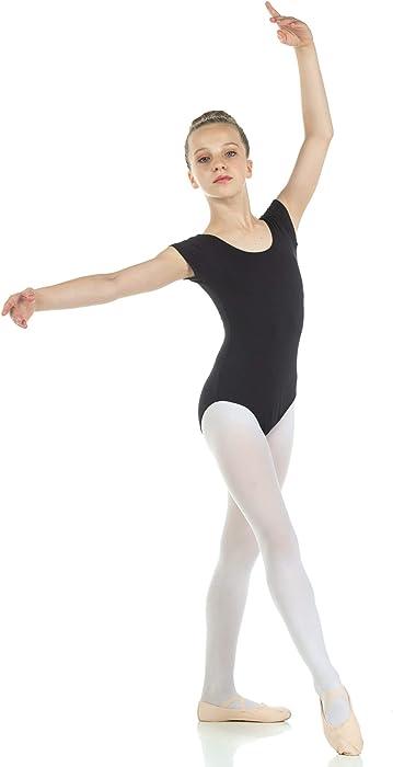 5e559958ebb Amazon.com   Danzcue Child Nylon Short Sleeve Ballet Cut Leotard ...