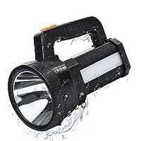 Linterna LED Recargable, Linterna LED Alta Potencia, 3 en 1 Súper Brillante 9600mAh/11000LM, Impermeable IPX4, Correa y…