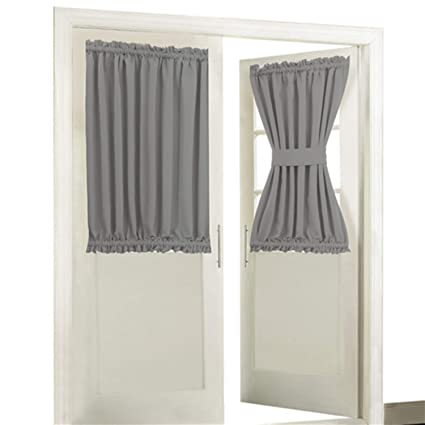 Superbe Blackout Door/ Window Curtain Panels For Privacy   Aquazolax 54W X 40L  Blackout Window Treatment