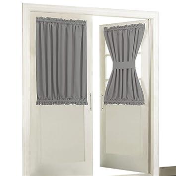 Amazoncom Aquazolax Blackout Rod Pockets Doorwindow Curtain Back