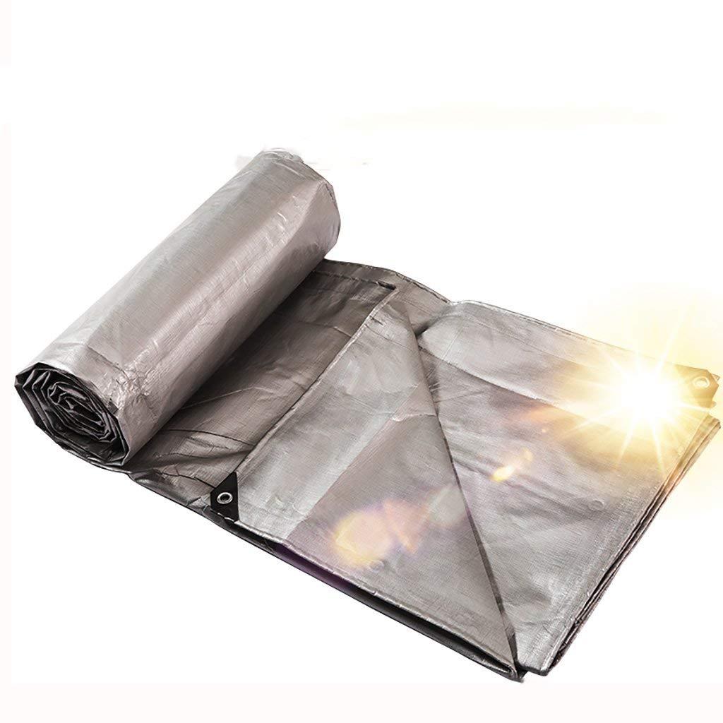 EU-14-Haucalarm Outdoor praktische Zeltplane Außenzelt Gepolsterte Regenschutz-Sonnenschutzplane aus Plane LKW-Plane für den Außenbereich staubdicht Winddicht beidseitig Silber