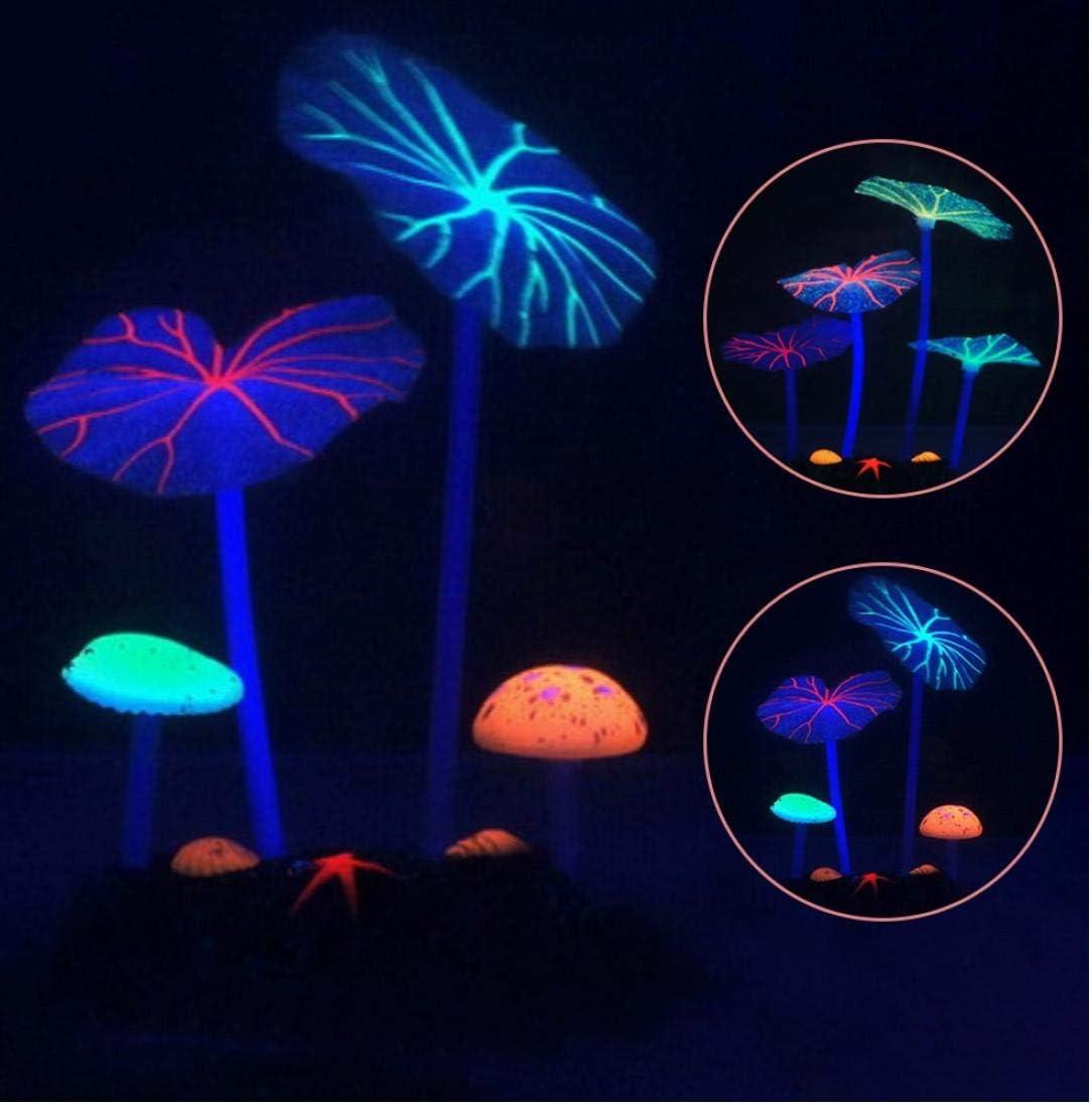 TOSSPER Glow In The Dark Luminous Simulation Leaf Aquarium Fish Tank Decoration