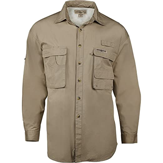 2893dcac45f Amazon.com: Hook & Tackle® Men's Gulfstream | Long Sleeve | Vented |  Performance Fishing Shirt: Clothing