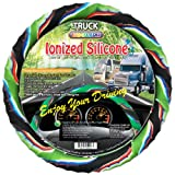 "New Silicone Semi-Truck Steering Wheel cover Jungle Style with Negative Ion fits 16"" 17"" 18"" 19"" Steering"