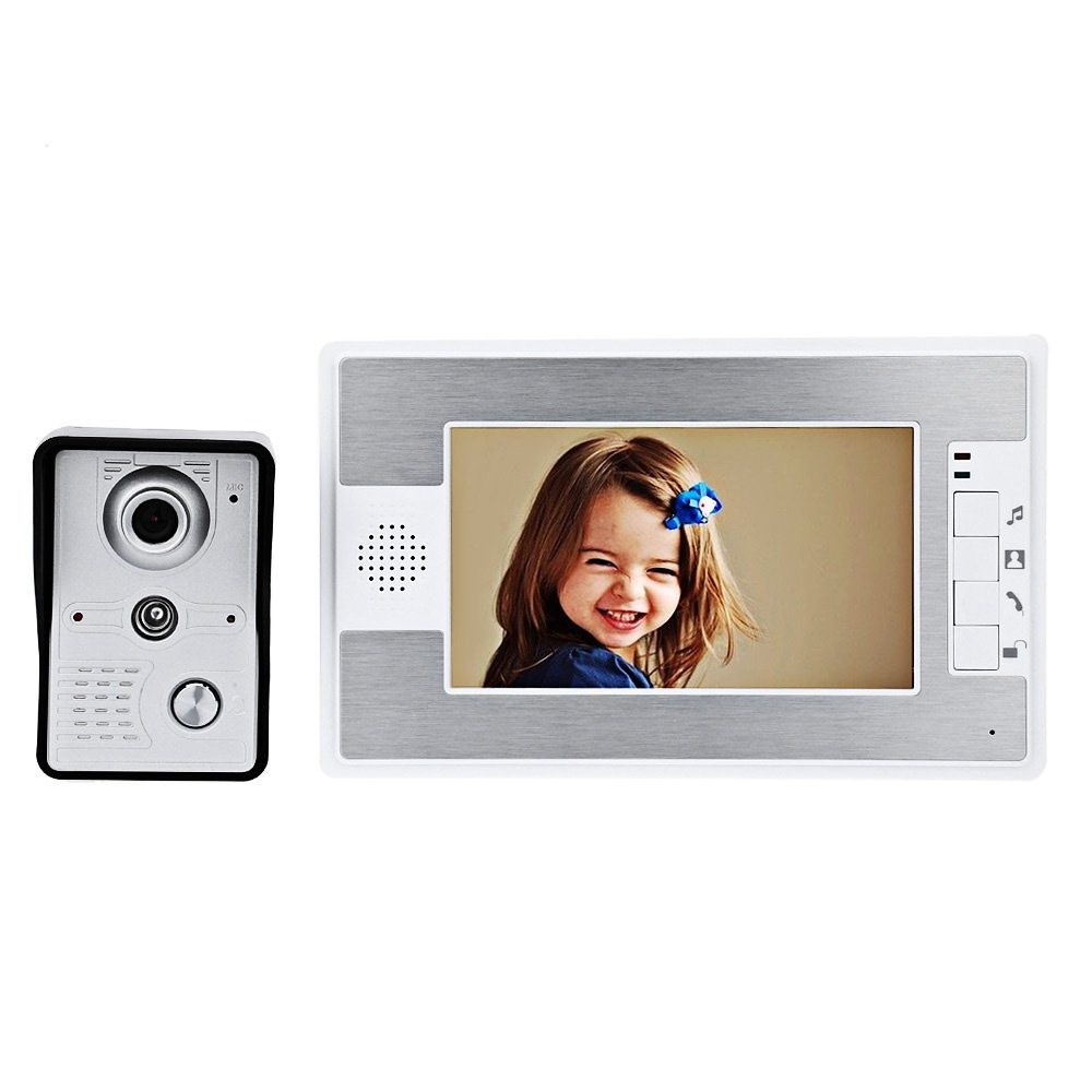 Villa home 7-inch wired color video intercom doorbell infrared night vision rainproof aluminum alloy AU plug