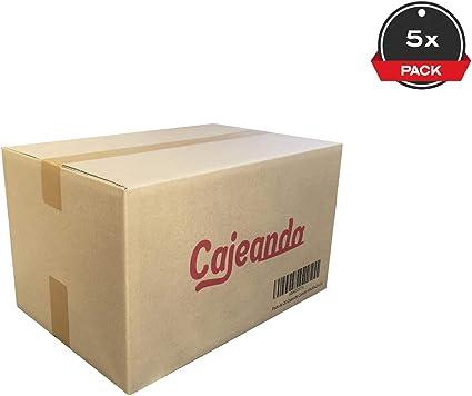 Cajeando   Pack de 5 Cajas de Cartón   Tamaño 43 x 30 x 25 cm   Canal Simple de Alta Calidad Reforzado y Resistencia   Mudanza y Almacenaje   Fabricadas en España: Amazon.es: Oficina y papelería