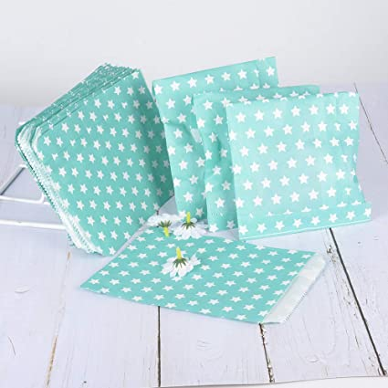 50pcs (13x18.5cm) Bolsas Papel Kraft Pequeñas Bolsas de Regalo Pequeñas de Papel Sin Asas para Navidad Boda Cumpleaños Comida Caramelos Dulces ...