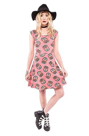 Iron Fist Vestido Casual Para Mujer Rosa Coral Xx