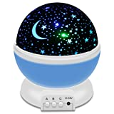 Amazon Price History for:IEKA Night Light LED Moon and Star Romantic Rotating Sky & Cosmos Cover Projector Night Lighting for Children Adults Bedroom, Mood/Decorative Light, Baby Nursery Light, Living Room Gift (Blue)