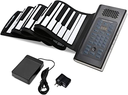 Amazon Com Eosaga 88 Keys Roll Up Piano Keyboard Portable Electric Hand Roll With Environmental Silicone Piano Keyboard Musical Instruments