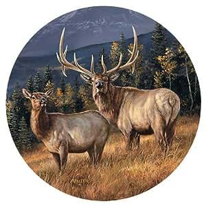 Elk Coasters by Rosemary Millette