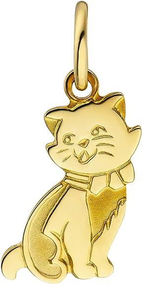 JOBO Damen Anh/änger Katze 333 Gold Gelbgold teil matt Goldanh/änger Katzenanh/änger