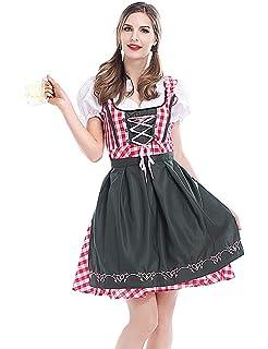 Set bávara Trachten vestido gris rosa 3.tlg set Oktoberfest Wiesn tendencia 3 pzas vestido