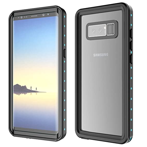 Galaxy Note 8 Waterproof Case, FugouSku Full Sealed IP68 Certified Waterproof Snowproof Dustproof Shockproof Heavy Duty Protection Underwater Case for ...