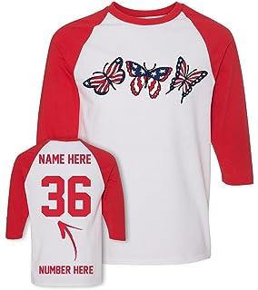 f24fb741e Custom 4th of July T Shirts & Jerseys - Patriotic American Flag Baseball  Raglans