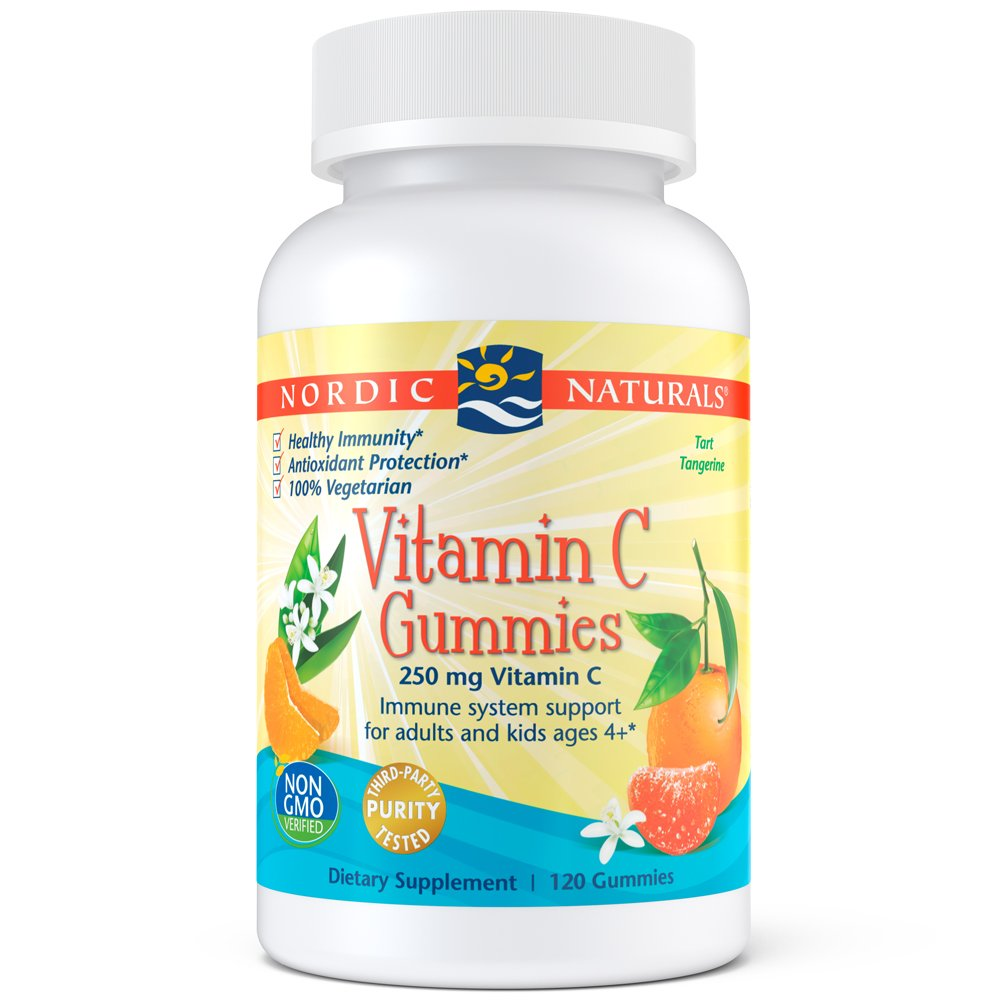 Nordic Naturals Vitamin C Gummies - Chewable Vitamin C Gummy Provides Daily Dose of Essential Nutrient Vitamin C for Immune System Support and Antioxidant Protection, for Kids and Adults, 120 Count