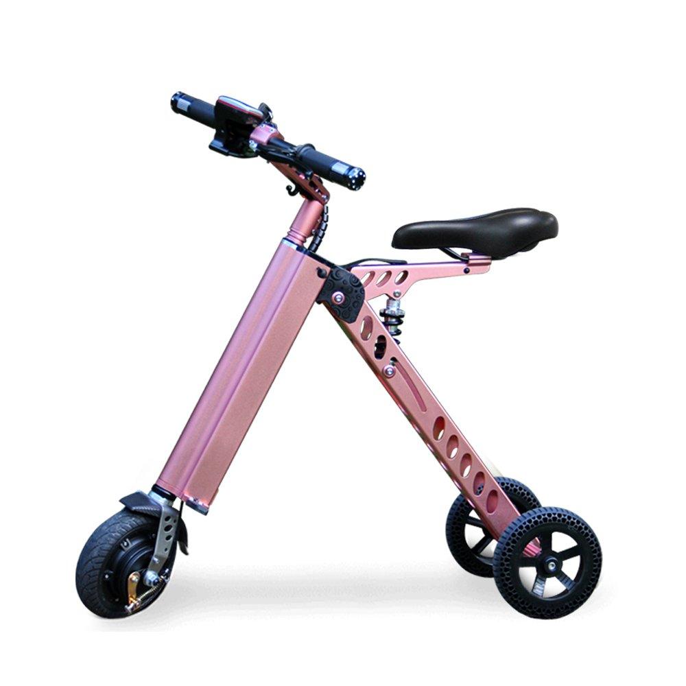 3輪折りたたみ電動自転車 充電式自転車 11KG B07586FT9B pink pink