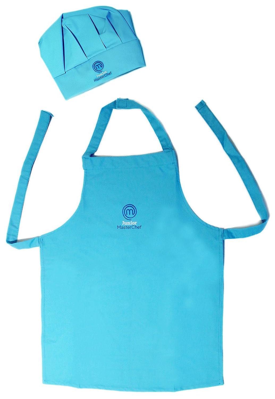 Masterchef apron (white) official merchandise - Official Junior Masterchef Apron And Chef Hat Set Blue Small Amazon Co Uk Clothing